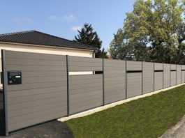 clôture composite ajourée