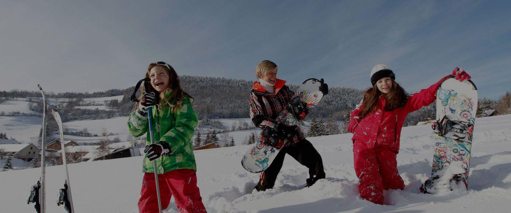Ski à la montagne