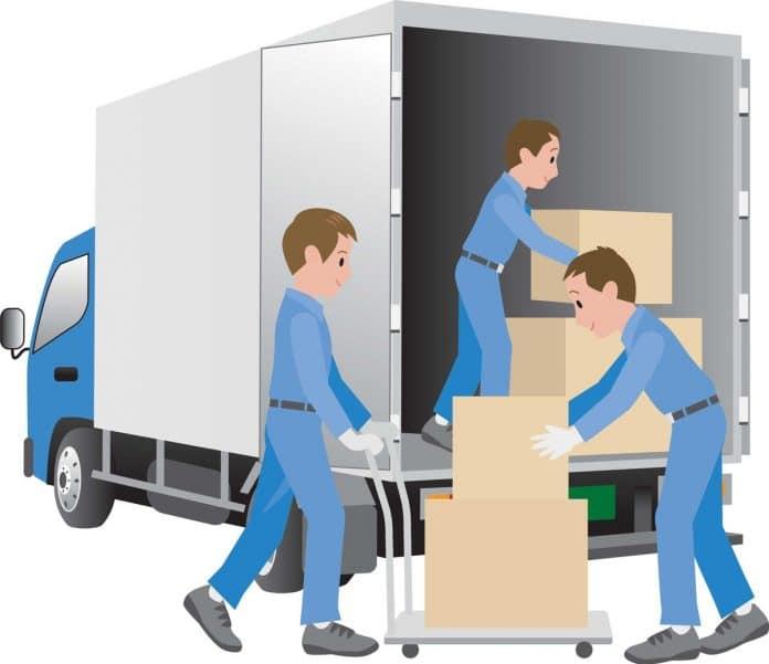 Image des agents de déménagement