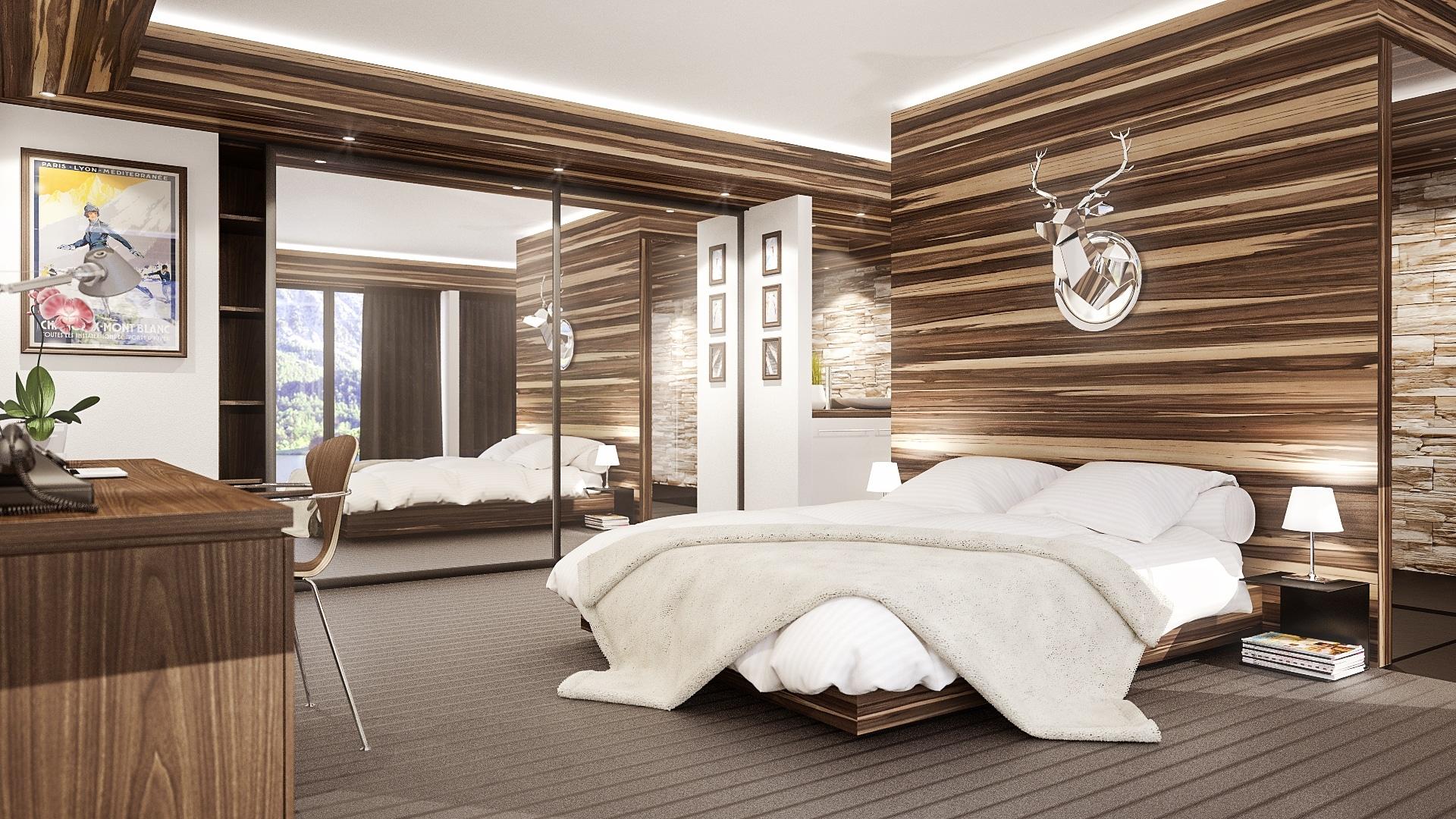 Une belle chambre d'hôtel