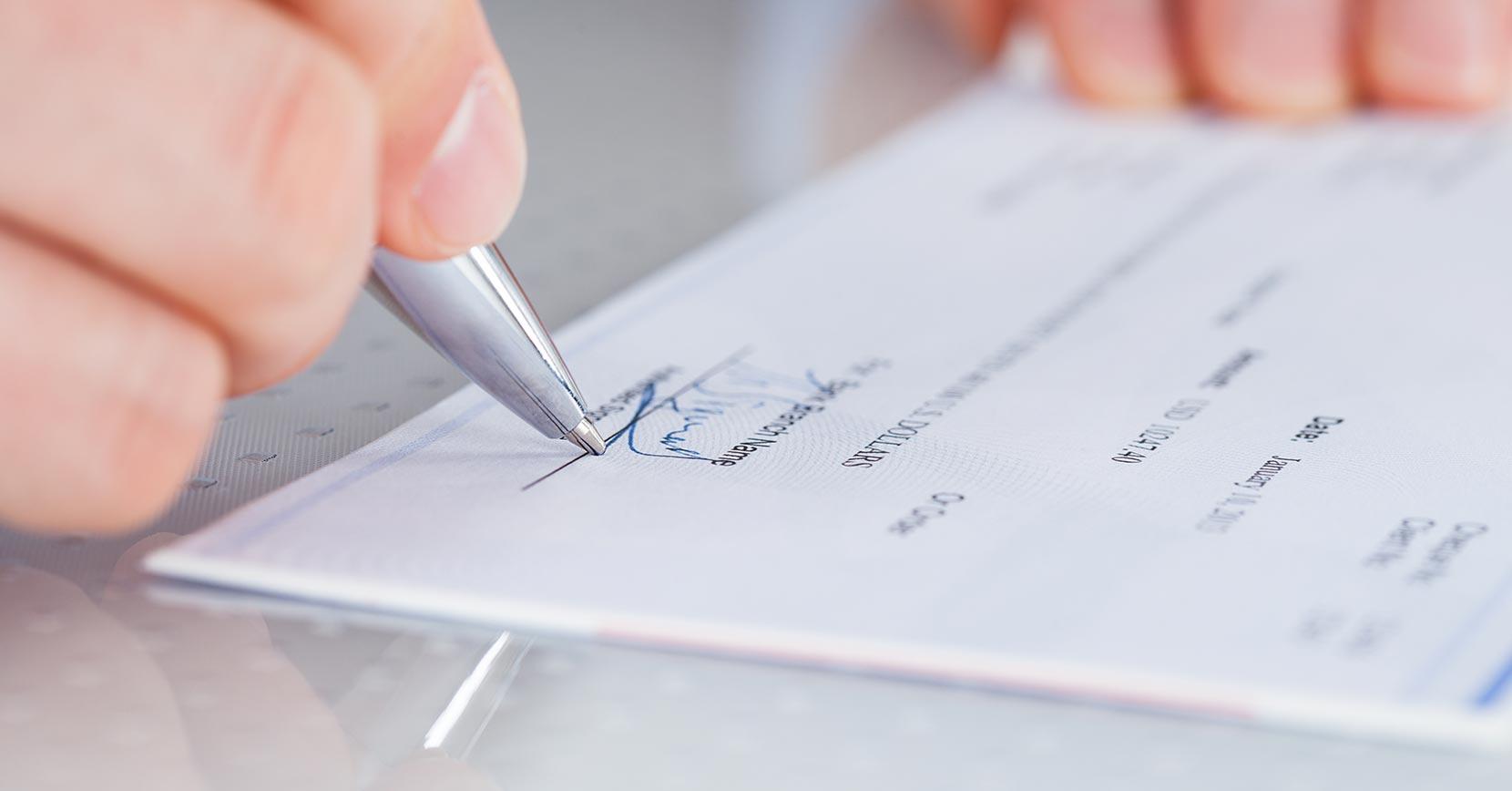 Banque en ligne, signature du contrat