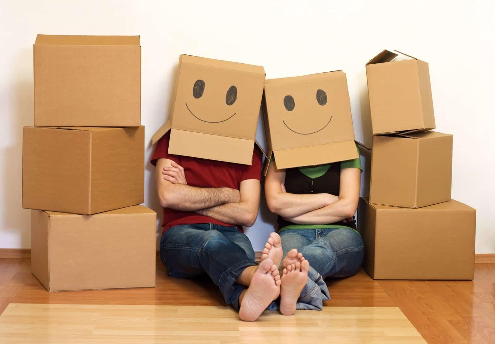 Des particuliers heureux de leur déménagement
