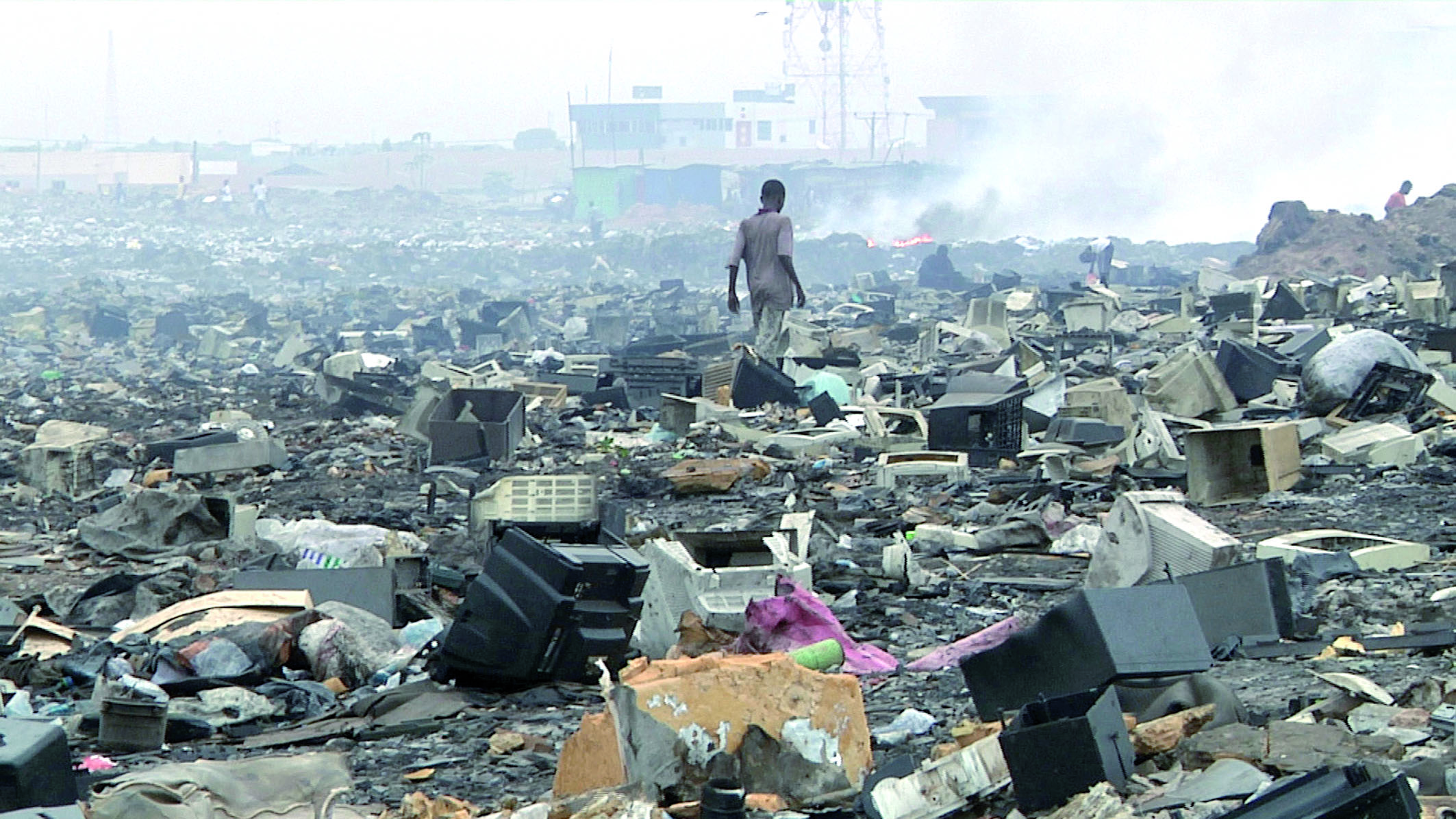 Un tas de déchets toxiques