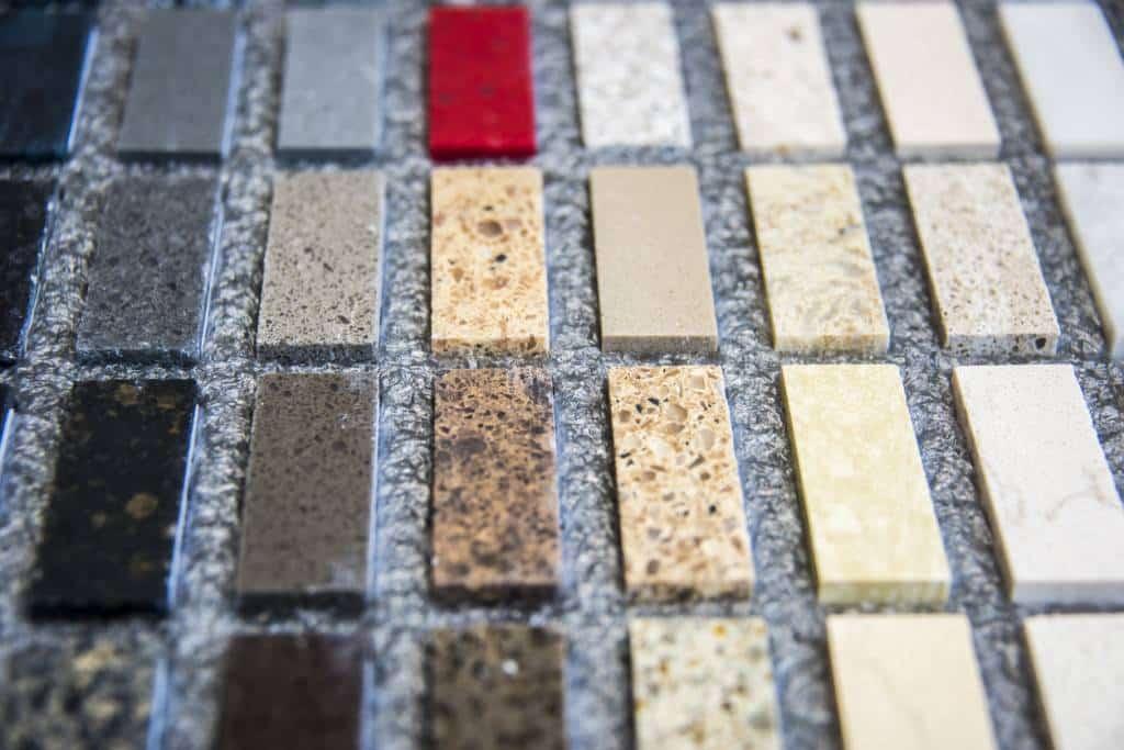 échantillons de granit