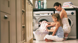 lave linge famille