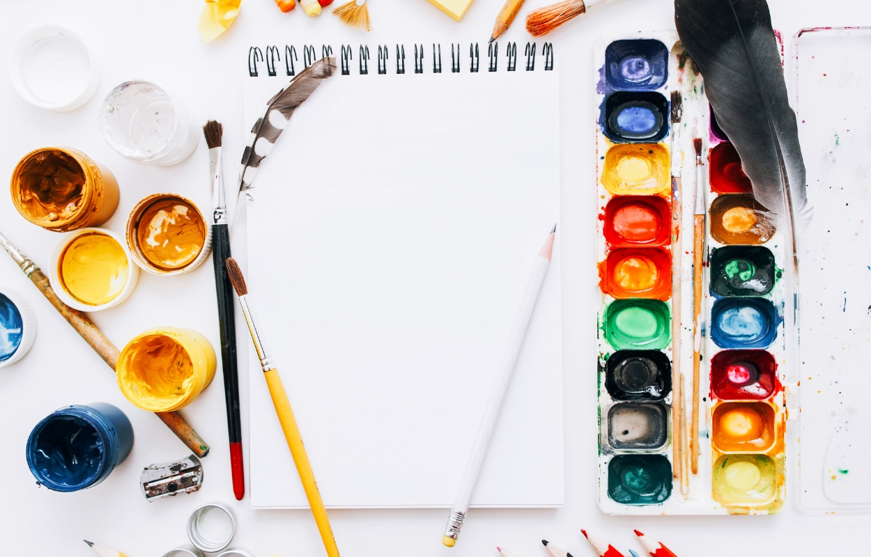 Peinture et pinceaux