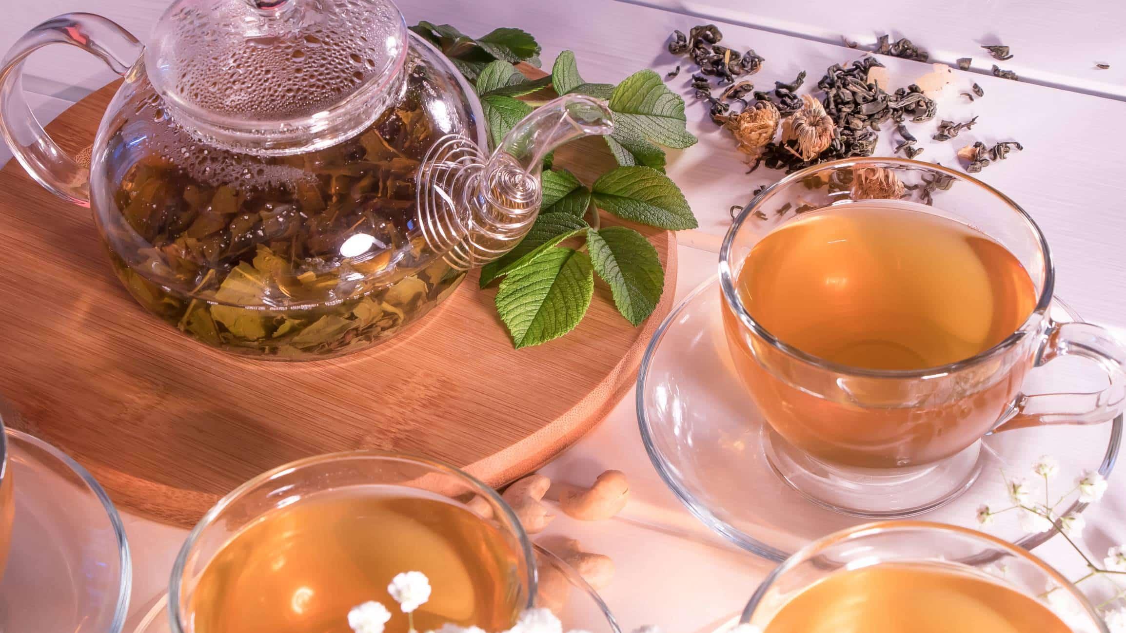 différentes variétés de thé
