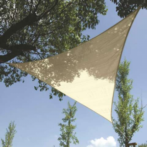 voile d'ombrage triangulaire beige
